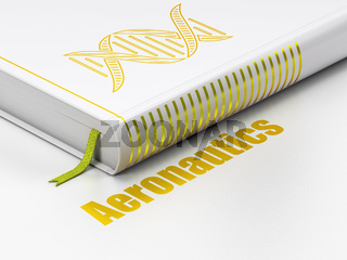 Science concept: book DNA, Aeronautics on white background