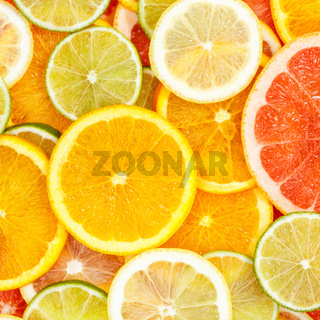 Citrus fruits collection food background oranges square lemons limes grapefruit fresh fruit