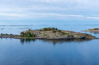 Islets of Stockholm Archipelago in Baltic Sea