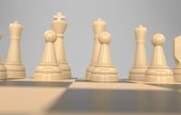 chess board game concept of business ideas and competition, strategy ideas concept white figures 3d illustration
