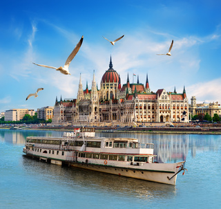 Parliament and boat