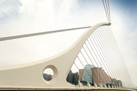 Samuel Beckett bridge in Dublin. Unique Bridge In Ireland