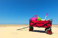 Hand cart at the beach