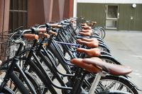 Bicycles in a row