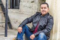 Headshot Portrait of Handsom Hispanic Man