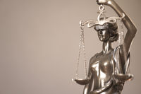 blindfolded lady justice or justitia bronze statue