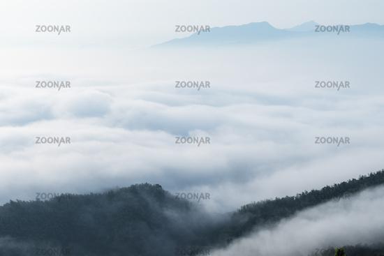 the sea of clouds closeup