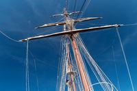 Detail an Bord eines Segelschulschiffes