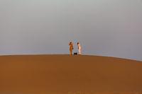 Photographer in the desert
