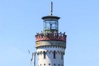 Leuchtturm, Plattform mit Aussicht, Hafeneinfahrt Lindau Insel