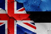 flags of UK and Estonia