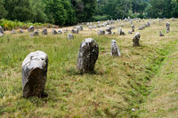 the prehistoric standing stone alignments of Carnac in Brittany