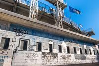 The exterior of the football stadium where Atalanta plays
