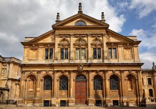 The Sheldonian Theatre. Oxford University, Oxford, England