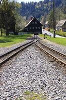 Endstation und Abstellgleis im Bahnhof von Jonsdorf bei Zittau