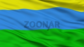 Acandi City Flag, Colombia, Choco Department, Closeup View
