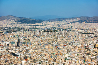 Athens city from Mount Lycabettus