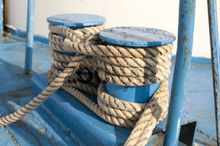 Naval rope on coils