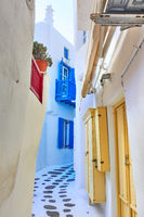 Small side street in Mykonos