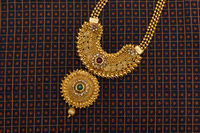 Close-up of Indian Traditional wedding necklace, India.