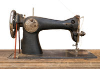 Isolated Antique Sewing Machine