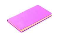 Closed old purple book isolated