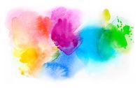 aquarell farben textur verlauf bunt freigestellt