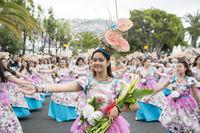 PORTUGAL MADEIRA FUNCHAL FLOWER FESTIVAL