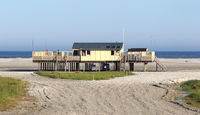 Old building at the dutch beach