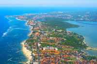 Aerial view Bali island Indonesia