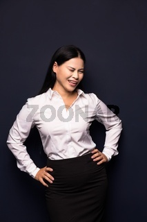 Happy smiling beautiful young business woman