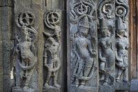 Ornamented Walls, Daitya Sudan temple, Lonar, Buldhana District, Maharashtra, India