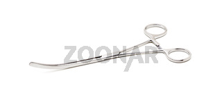 Stainless Steel Precision Surgical Medical Instrument Isolated on White Background