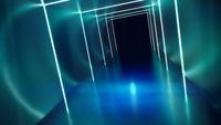neon lights tunnel background