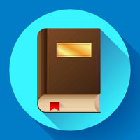 flat book icon vector illustration. Flat book icon with bookmark