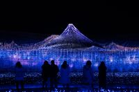 Nabana No Sato Winter Illumination in Mie in Japan.