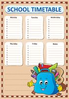 Weekly school timetable template 4