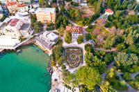 Park Angiolina in Opatija aerial view