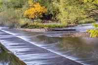 water diversion dam on Poudre River