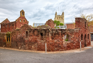The remains St Catherine's Chapel and Almshouses. Exeter. Devon. England