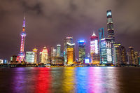 Shanghai city skyline at night