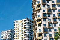 Moderne Hochhausfassaden