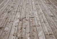Vintage wooden planks floor surface in perspective