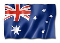 Australian flag isolated on white