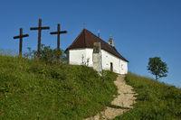 Kapelle auf dem Kornbuehl; Schwaebische Alb;