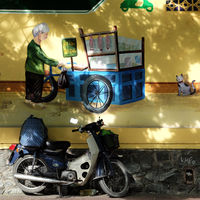 graffiti artwork with Vietnamese life
