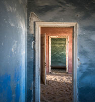 Abandoned ghost town of Kolmanskop in Namibia