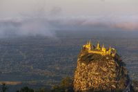 Mount Popa on an old volcano in Bagan, Myanmar