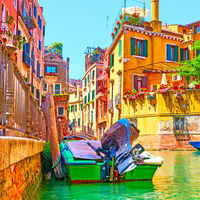 Picturesque small canal in Venice