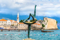 Statue of ballerina in Budva